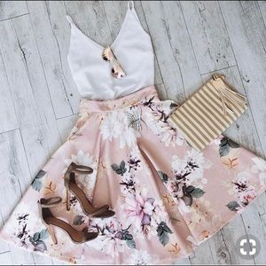 1129be15a6 Showpo. Skirts | Showpo Whirlwind Midi Skirt In Blush Floral | Poshmark
